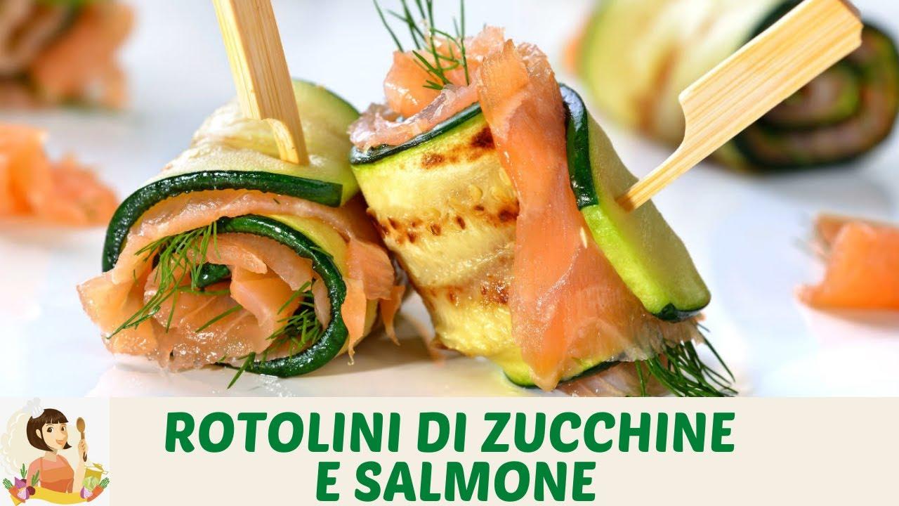 Ricetta Salmone Zucchine E Philadelphia.Rotolini Di Zucchine E Salmone Shorts Youtube