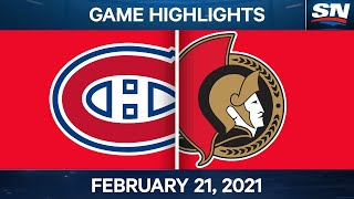 NHL Game Highlights | Canadiens vs. Senators - Feb. 21, 2021