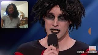 Reacting to Oliver Graves Gothic comedian America's Got Talent