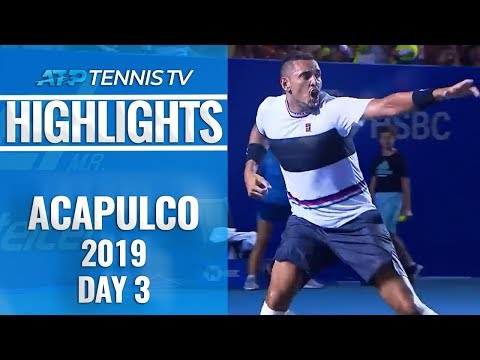 Kyrgios Stuns Nadal; Ferrer Says Goodbye | Acapulco 2019 Highlights Day 3