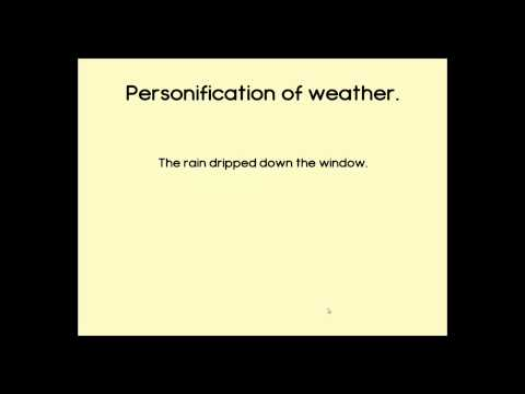 Personification Of Weather Sentences Youtube