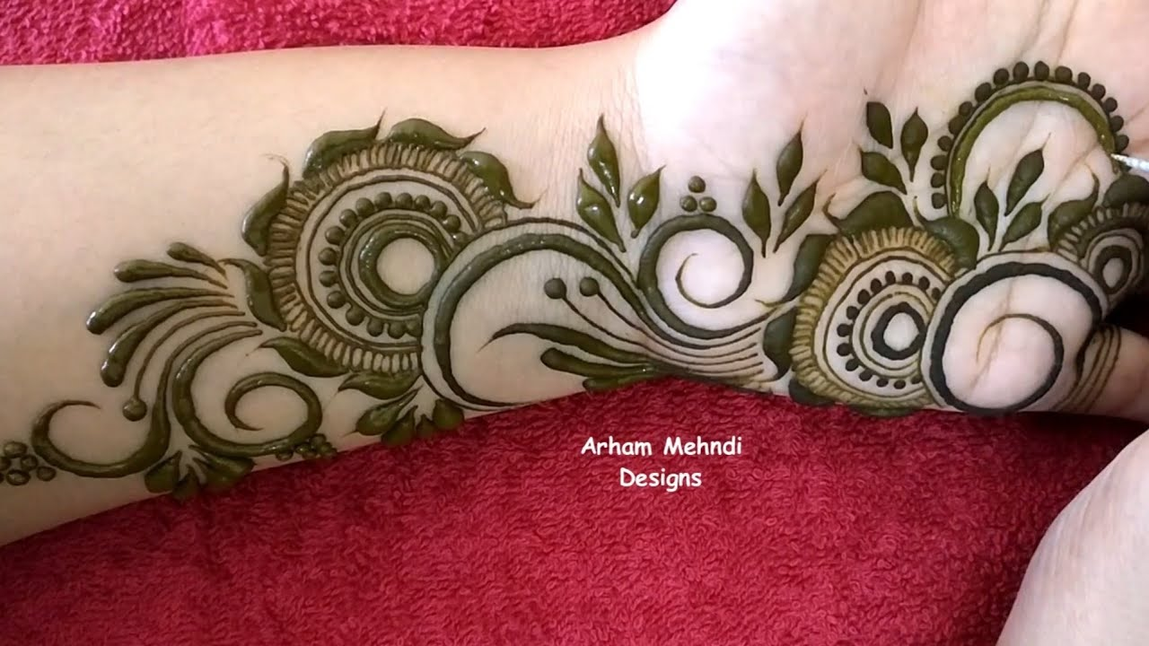 arham mehndi arabic simple easy front hand modern mehndi design