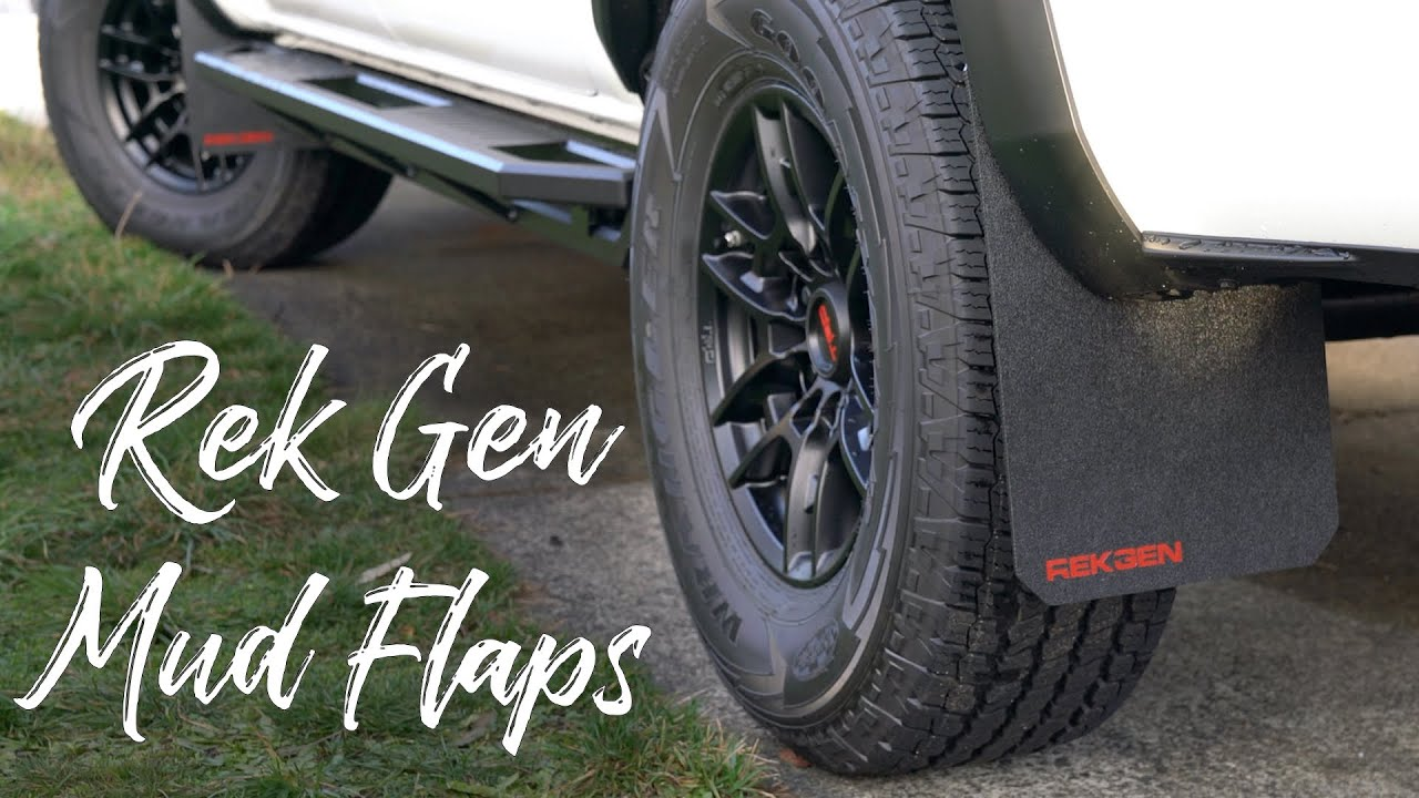 Stock, Red Rek Gen Mud Flaps Compatible w//Toyota Tacoma Gen3 2016+