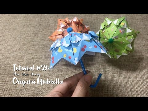How to DIY Origami Umbrella? | The Idea King Tutorial #59