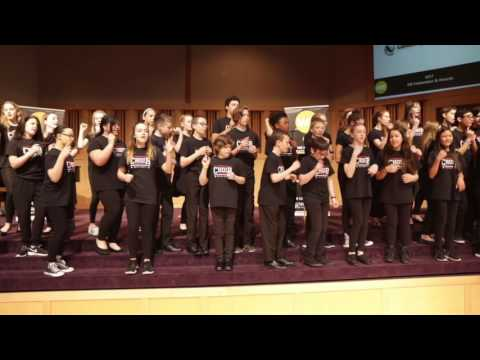 Conestoga Middle School Choir performing at CPT WE Awards on May 4, 2017
