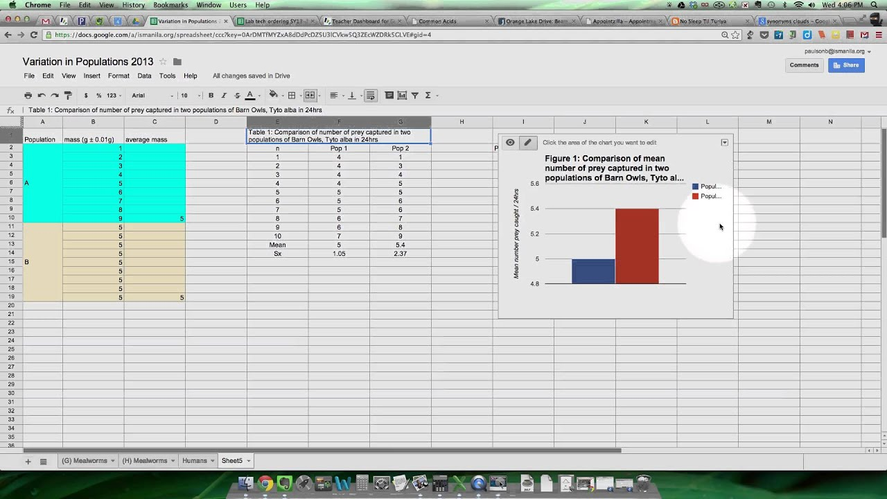 Graphing Mean And Standard Deviation  Google Version