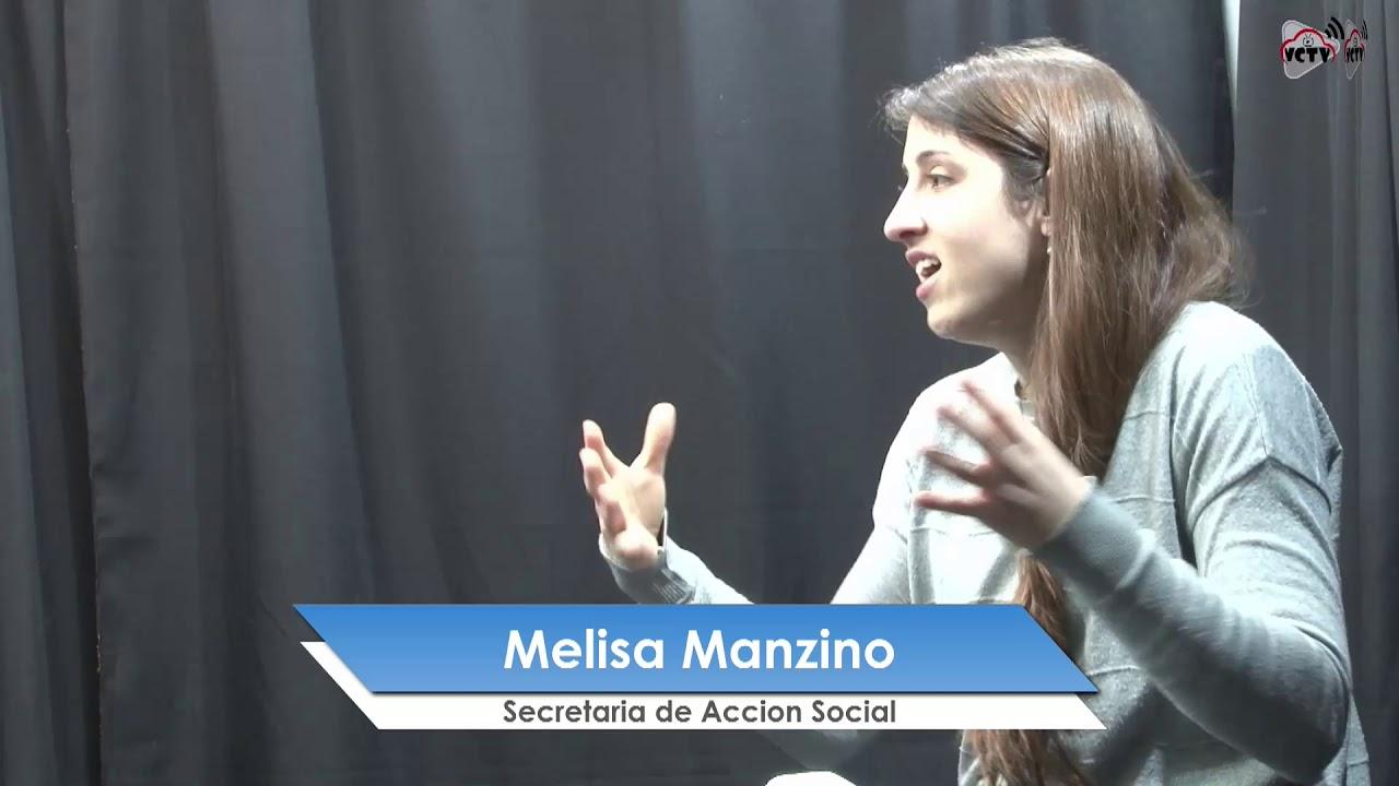 Melisa Manzino en  los Estudios de VCTV
