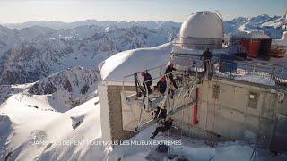 La construction du « Ponton dans le ciel », au Pic du Midi (Extrait Le Monde de Jamy)