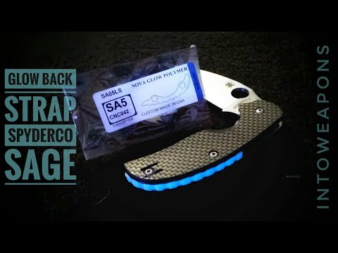 Glowing Backspacer for Spyderco Sage:  How to Install