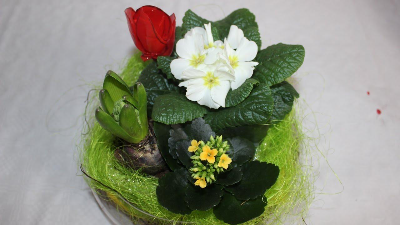 Tischdeko frühlingsblumen  DIY.Selbstgemachte Tischdeko mit Frühlingsblumen / Homemade table ...