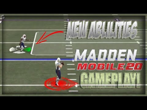 Madden Mobile 20 New Gameplay Scheme Abilities Sneak Peek!!