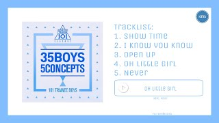 full album produce 101 프로듀스101   35 boys 5 concepts