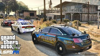 GTA 5 LSPDFR 0.3.1 - EPiSODE 625 - LET'S BE COPS - TAURUS PATROL (GTA 5 PC POLICE MODS)