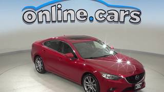 A10098CT Used 2015 Mazda6 i Grand Touring FWD 4D Sedan Red Test Drive, Review, For Sale
