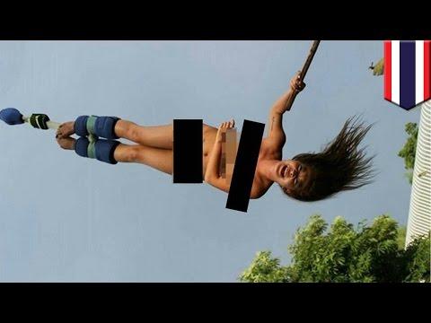 17歳の美少女モデルがヌードでバンジージャンプ タイ