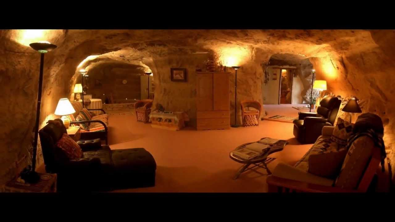A peek inside a cave hotel in new mexico youtube - The cave the modern home in the mexican desert ...