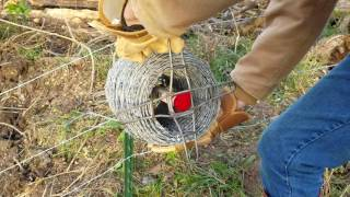The best tool to install barb wire on a ranch or farm