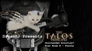 Talos Principle - Unintended Solution Star Room B