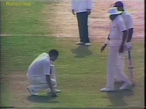 Cricket bowler vomits while running into bowl. Huge mess!