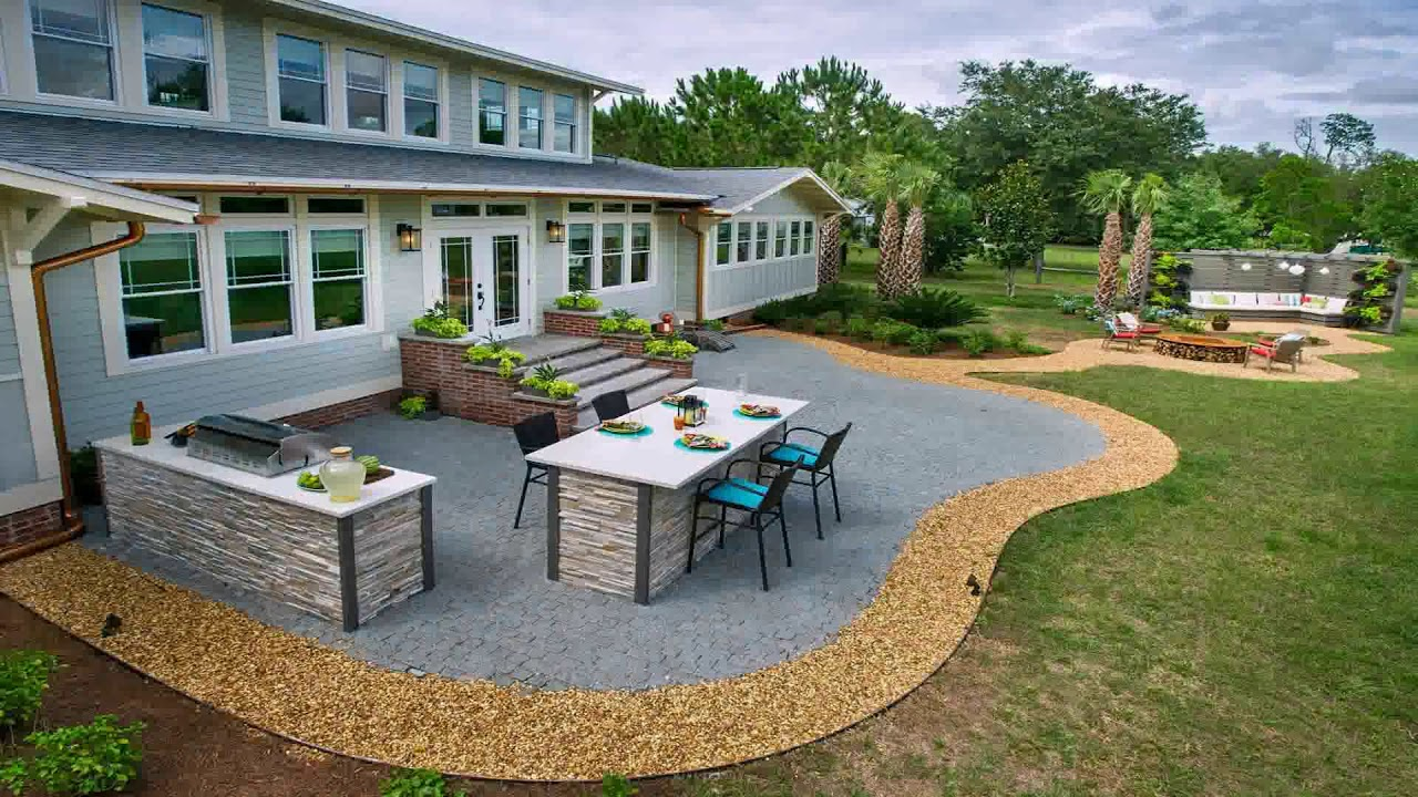 Low Cost Concrete Patio Ideas (see description) - YouTube on Low Cost Patio Ideas id=94533