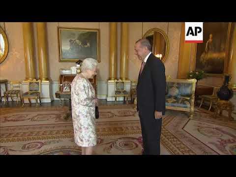 President of Turkey meets Queen Elizabeth II