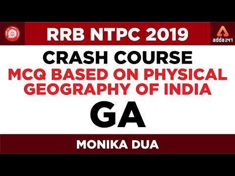 RRB NTPC 2019 Crash Course   MCQ Based on Physical Geography of India    GA   Monika Dua