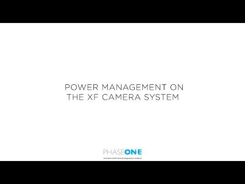 Support | Power management on the XF Camera System | Phase One