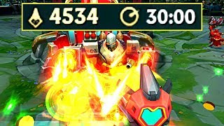 4500 CS in 30 MINUTES! CS World Record! (League of Legends)
