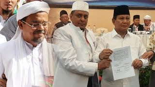 17 Poin Pakta Integritas yang Ditandatangani Prabowo, di Antaranya Menjamin Kepulangan Habib Rizieq