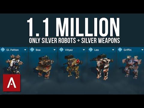 War Robots Challenge: SILVER Robots + SILVER Weapons | 1.1 MILLION