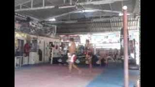 Nicolas Nuñez Pad Work Muay Thai, Bangkok Thailand