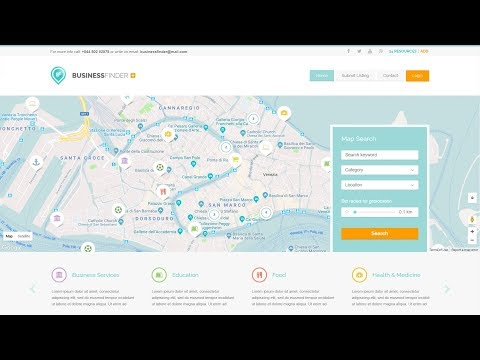 How to Make a Listing, Directory and Classified Website with WordPress - 2018 Business Finder Theme