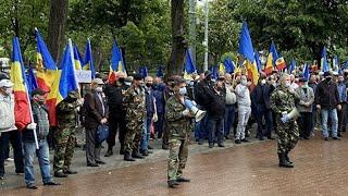 В Кишиневе протестуют ветераны конфликта в Приднестровье