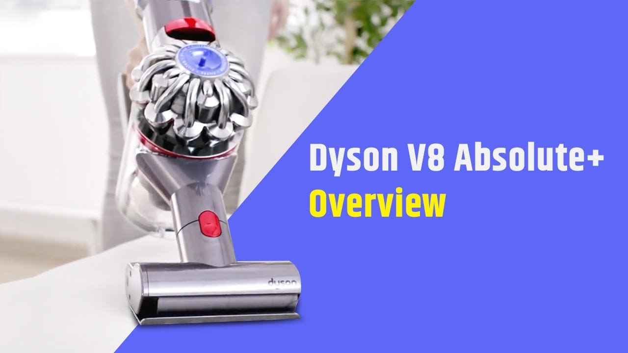 dyson v8 absolute plus cordless vacuum cleaner overview youtube. Black Bedroom Furniture Sets. Home Design Ideas