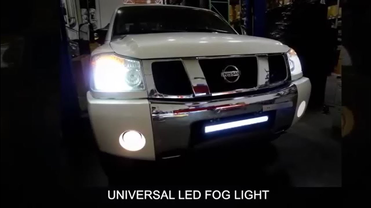 maxresdefault spec d universal led fog light installation video youtube 2016 nissan frontier fog light wiring harness at mifinder.co