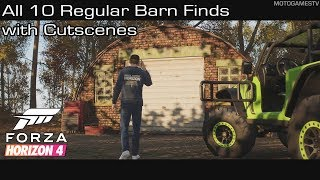 Forza Horizon 4 - All 10 Regular Barn Finds with Cutscenes