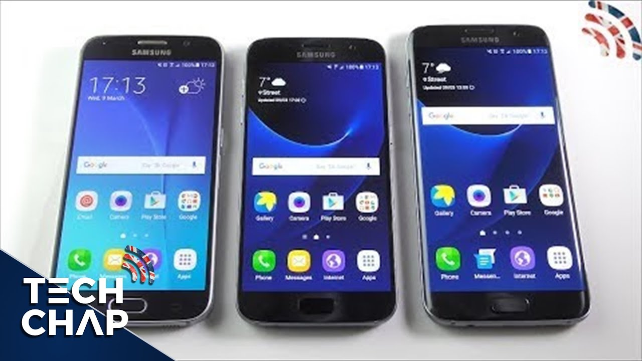 Galaxy S7 EDGE Vs S7 Vs S6
