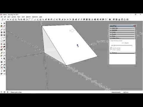 how to make slope in sketchup