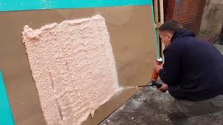 видео Напыляемый утеплитель Polynor