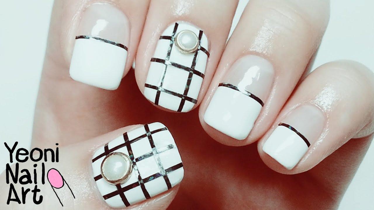 Single Line Nail Art : 라인테이프를 활용한 심플 네일아트 pcs striping tape line nail art