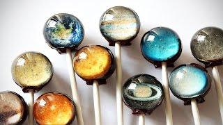 DIY : Chocolate Planet Lollipops
