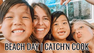 Florida Beach Day | Surf Fishing | Making Poke Bowls | Fisher Family Vlogs