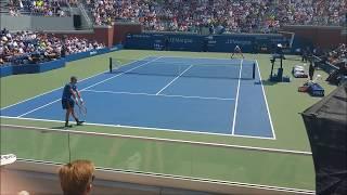 Dominic Thiem vs Steve Johnson - US OPEN 2018 Court level tennis view HD