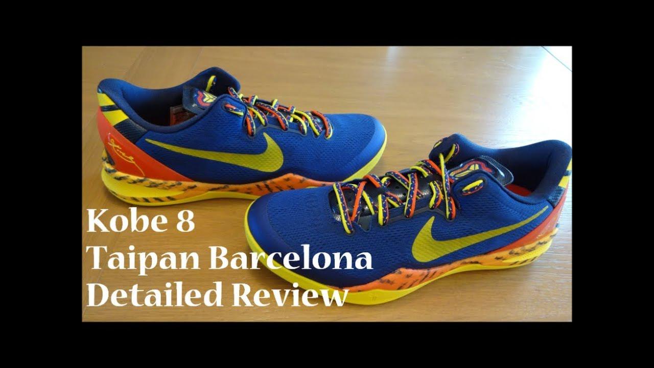 d92b67ae7fdb Nike Kobe 8 Taipan Barcelona - Detailed Review - YouTube