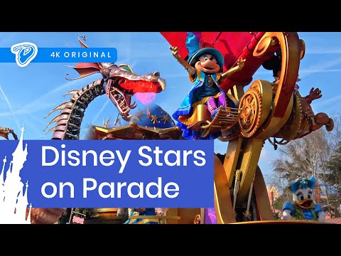 Disney Stars On Parade Disneyland Paris FULL 4K 25th Anniversary Parade With Fire-Breathing Dragon