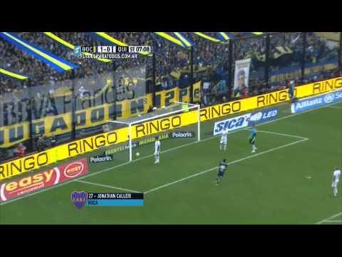 Gol de Calleri. Boca 2 - Quilmes 0. Fecha 17. Primera División 2015. FPT.
