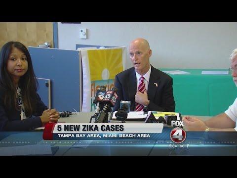 Florida Department Of Health Investigating Five Reports of Zika Virus