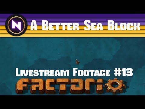 Factorio 0.16 A Better Sea Block - E13 TRAINS AND ALUMINIUM - Livestream Footage