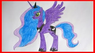 How to draw Princess Luna my little pony, Как нарисовать пони Принцесса Луна, дружба это чудо(SUBSCRIBE http://www.youtube.com/channel/UCP3MUIw4Nd-eG8sCLSOL8eg?sub_confirmation=1 How to draw cartoon characters How to draw Princess ..., 2015-01-24T03:52:37.000Z)