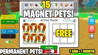 ⚡I HAVE 15 OF THE BEST REBIRTH PETS IN MAGNET SIMULATOR *1 COIN GETS ME 1 REBIRTH*⚡